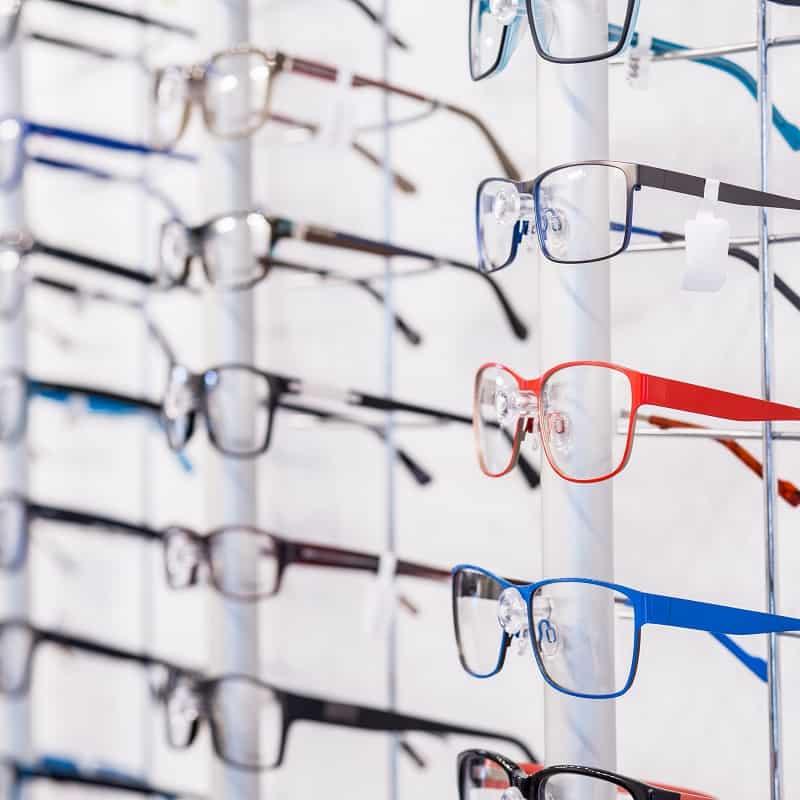 eyeglass rack